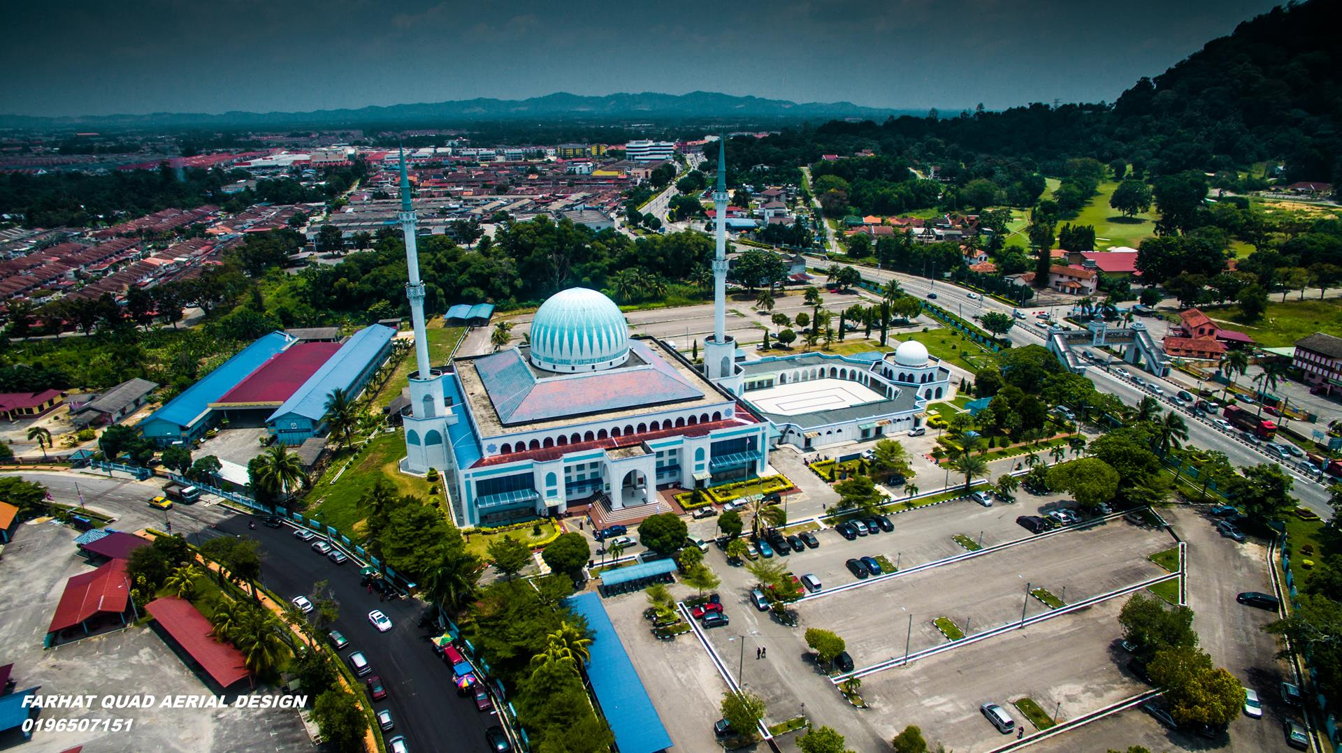 Masjid Batu Pahat aerial fotografi