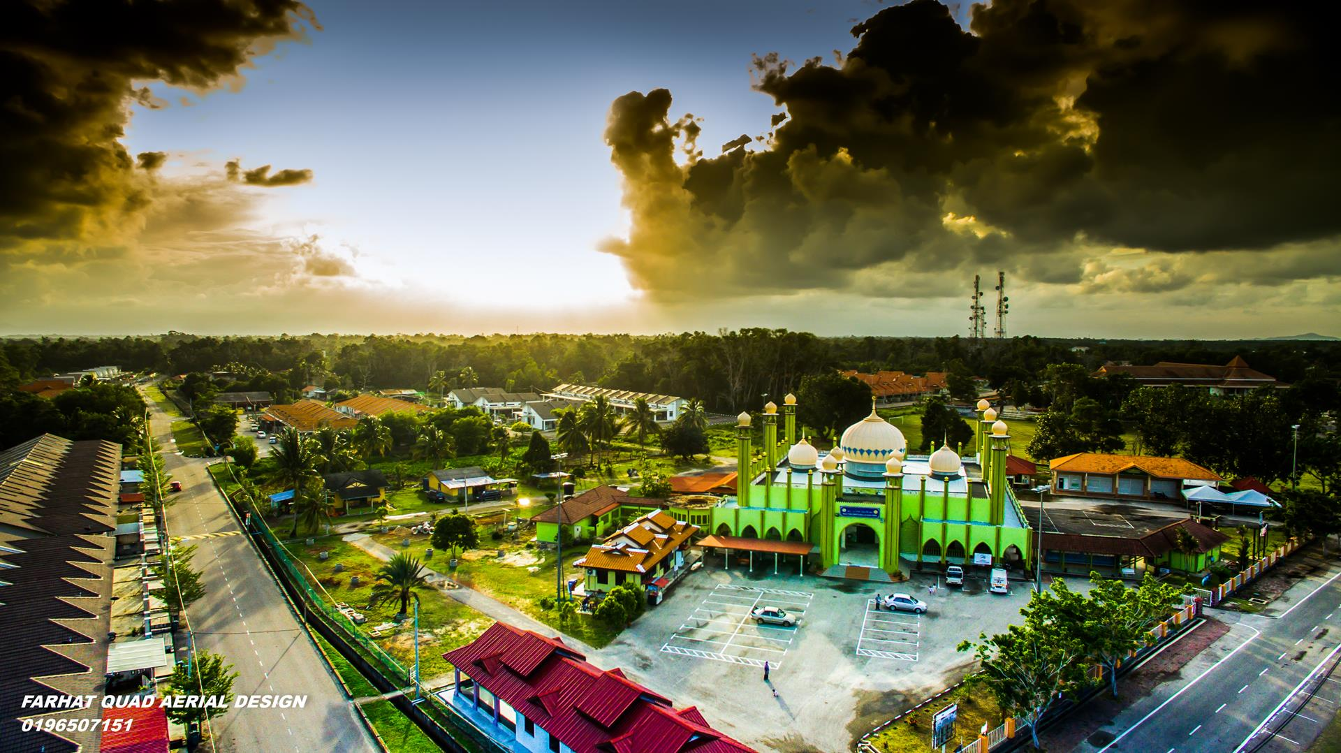 Masjid Rompin aerial fotografi