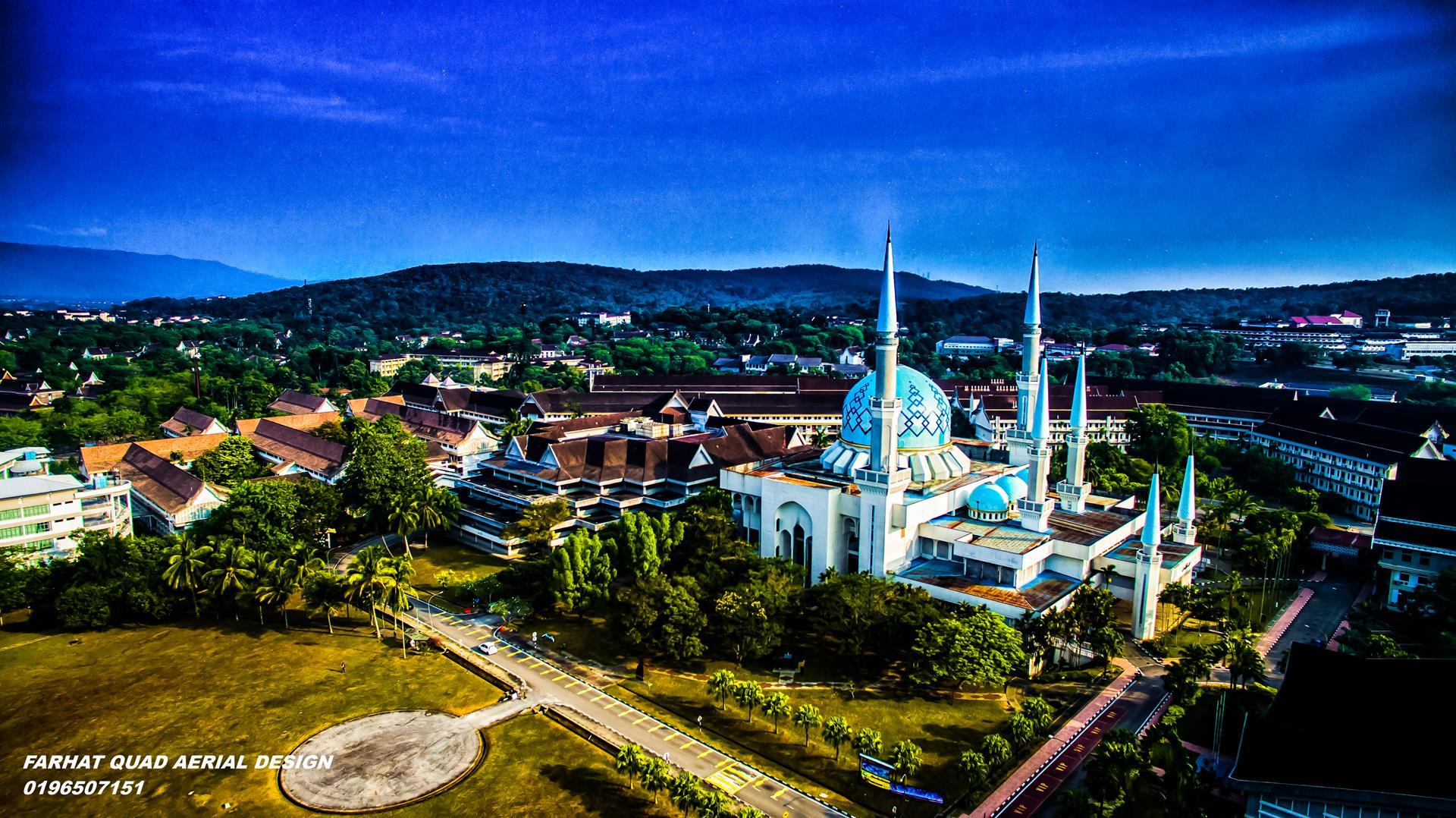 Masjid UTM Skudai aerial fotografi