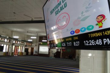 jam solat tv smart solah display