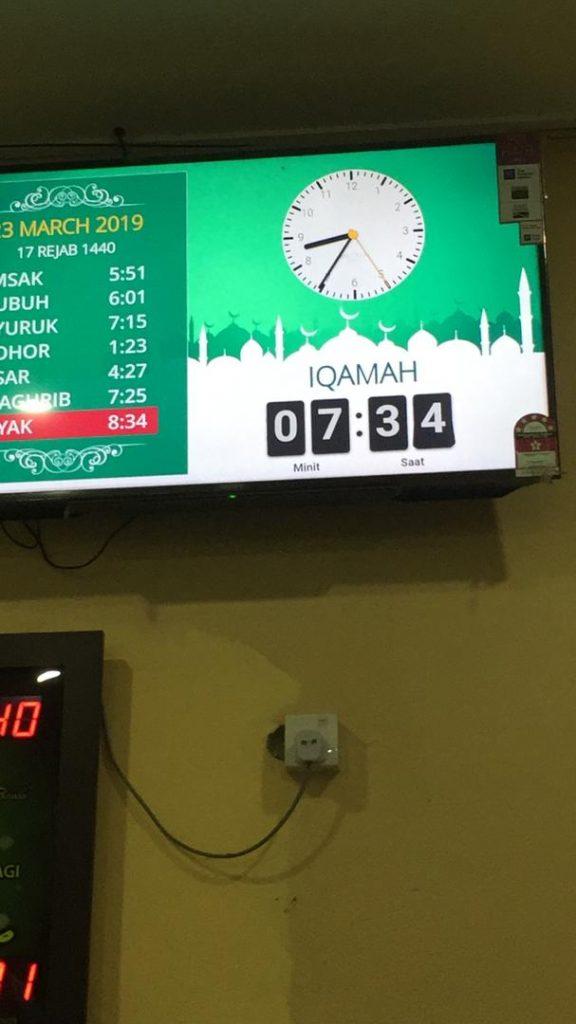 jam solat masjid