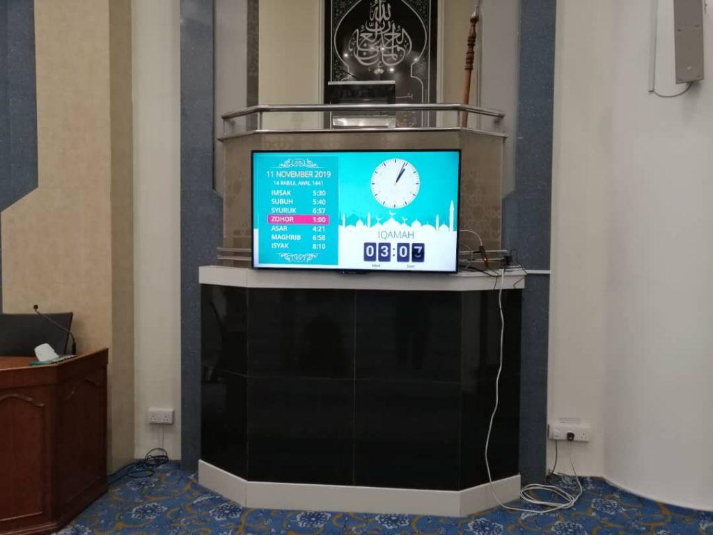 pemasangan sistem informasi masjid