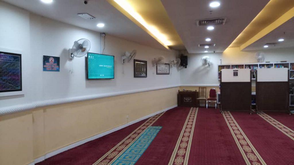 digital signage jam solat masjid