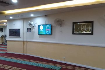 digital signage masjid