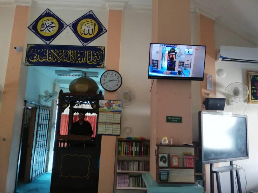 sistem info tv dan jam solat